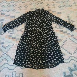Madewell Mockneck Floral Dress